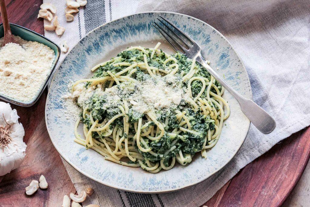 Spaghetti mit Grünkohl